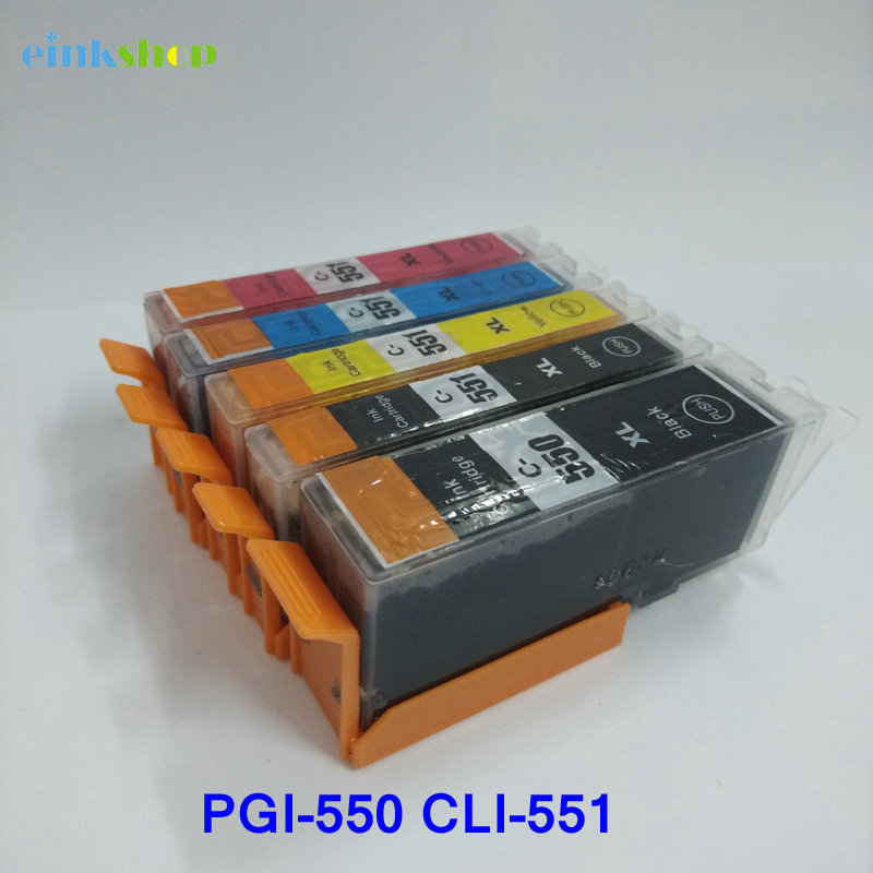 Einkshop 1 комплект PGI-550 CLI-551 картриджи с чернилами PGI550 CLI551 для Canon PIXMA IP7250 MG6350 MG5450 MX925 MG7150 MG6450 MG5550