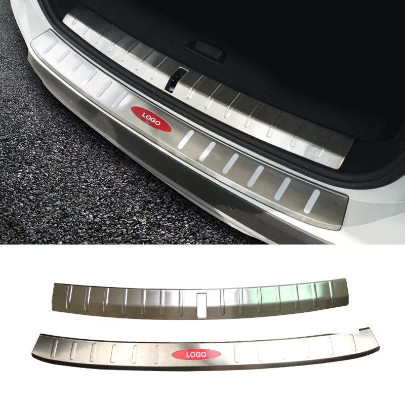 Car Styling Stainless Steel Car Trunk External Pedal Trim Protection Sequins Trim Decoration Accessory For BMW X1 2016 2016 stainless steel car styling front cup holder panel sequins for buick regal 2009 2016 car accessories decoration sequins