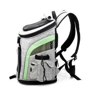 Image 2 - Mochila para transportar perros, bolsa transpirable para perros y gatos pequeños, portátil, para hombro, cosas para perros, senderismo, viaje, andar