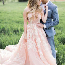 NOBLE BRIDE Pink Country Wedding Dresses 2019 Backless