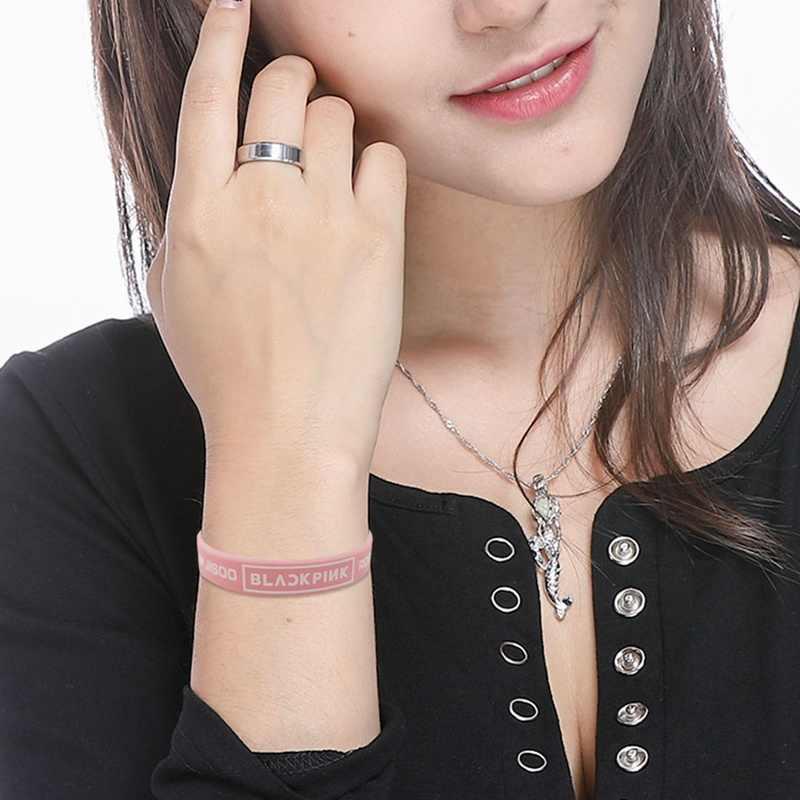 كوريا البوب الوردي اللون سوبر ستار المشجعين BLACKPINK Beacelet Kpop الرياضة مجوهرات أساور