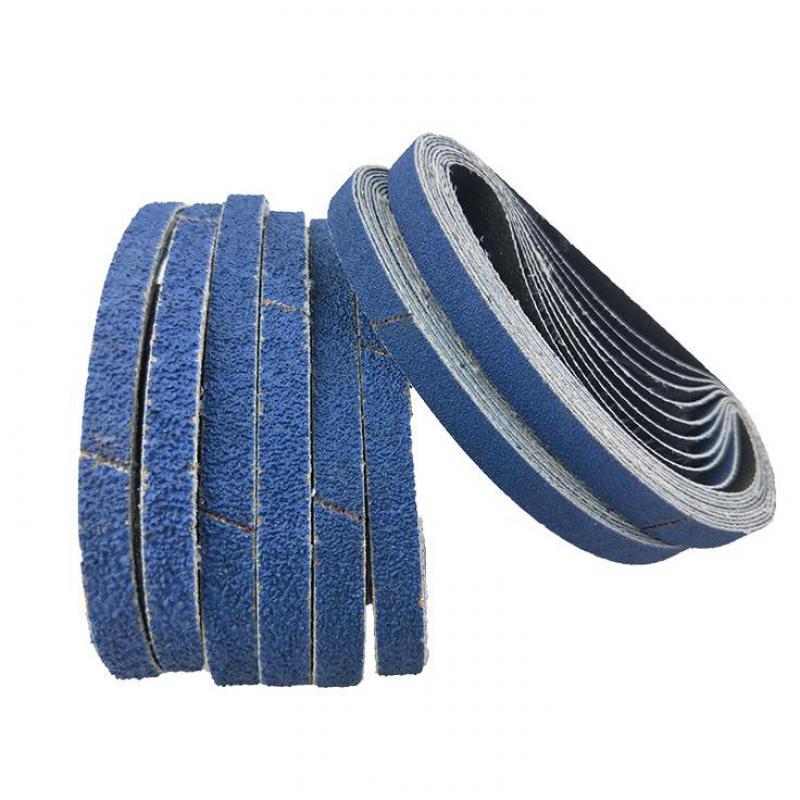 10 Pcs 457*13mm Blue Aluminium Oxide Sanding Paper 40-120 Grit Polishing Sandpaper Grinding Pad Disc Abrasive Belts For Sander