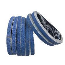 10 Pcs 457*13mm Blau Aluminium Oxid Schleifpapier 40-120 Grit Polieren Schleifpapier Schleifen Pad Disc schleif Gürtel für Sander