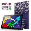 Магнитный Стенд кожа pu Case для Lenovo Tab 2 A10-30 A10-70 X30F A10-70F A10-70L tablet крышка случая + Защитная Пленка для Экрана