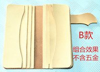 DIY vegetabel tanning pre cutted women wallet leather piece set carve material