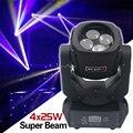 Супер Луч 4x25 Вт Светодиодный светильник с движущейся головкой  эффект бара  светодиодный светильник для сцены  светодиодный светильник Cree  ...