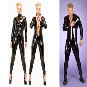 69d1ece0cca FIRST FEELING Women Sexy Leather Catsuit Bodysuit Costume