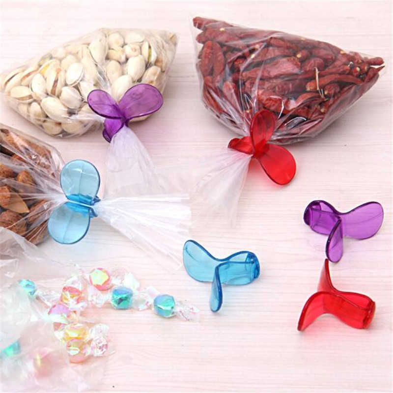 Food Snack Storage Seal Sealing Bag Clips Sealer Kitchen Food Bag Clips Home Plastic Food Close Clip Seal Home Organizer 6Pcs