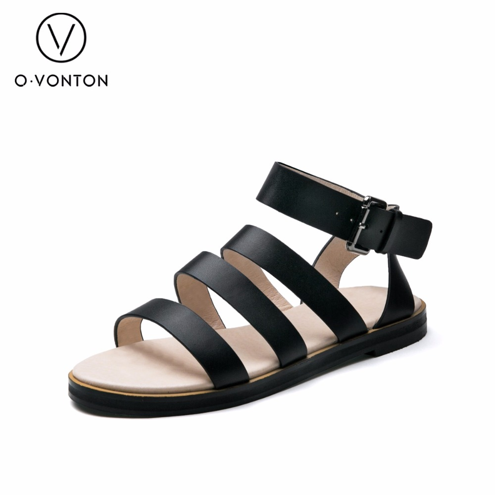 Leather Casual Shoes Woman Gladiator Sandals Women Flats Summer Shoes ladies footwear Buckle Strap timetang 2017 leather gladiator sandals comfort creepers platform casual shoes woman summer style mother women shoes xwd5583