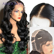 HD Transparent Full Lace Human Hair Wigs With Baby Hair Body