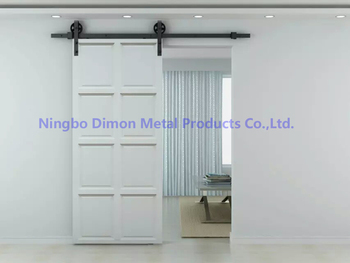 Free shipping Dimon hot sell new style wood sliding barn door hardware DM-SDU 7210 with soft close (without sliding rail) free shipping 8 pieces high quality sliding door crane rail hang round of bathroom accessories
