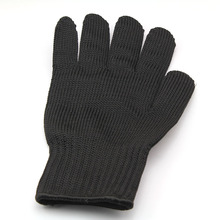 1pc Men's Steel Wire Fishing Fillet Gloves Cut Resistant Thread Weave Tool Gloves New