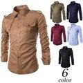 Европа и соединенные Штаты новые персонализированные значки дизайн мужские рубашки Англия молнии украшения с длинными рукавами рубашки