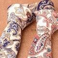 Rojo Azul de Algodón Paisley Corbatas para Los Hombres de La Vendimia Delgado Lazo diseñador Estrecha Corbata Gravata Corbatas estrechas 5 cm Floral de Lino Del Verano estilo