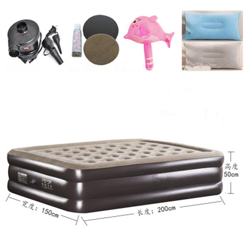 Inflatable Mattress Topper Folding Bed Inflatable Soft Bed Cama Bedroom Furniture Muebles De Dormitorio Free Shipping