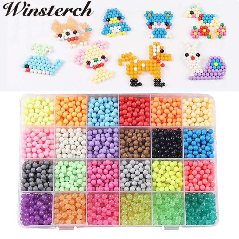 24 цвета 3000 шт./компл. ребенок DIY распыления воды Magic Hama perler бисер игрушки головоломки обучающие игрушки для детей Подарки для детей SL037