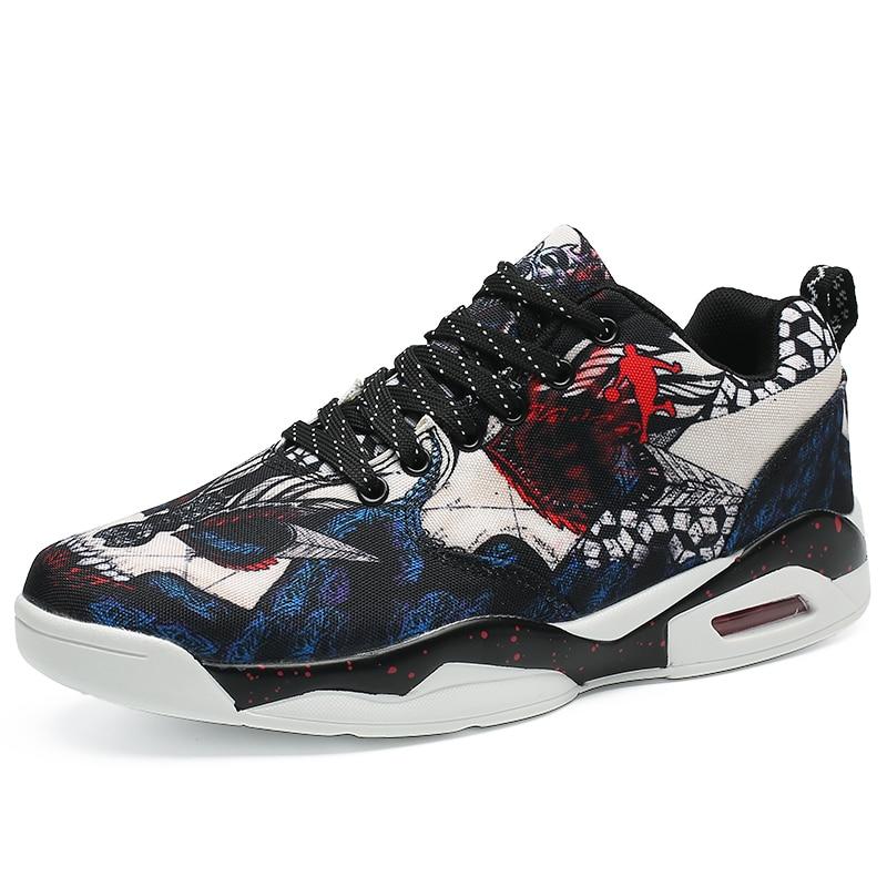 Chaussures Graffiti d'automne baskets hautes pour hommes Version coréenne de la tendance chaussures chaussures de sport pour hommes sauvages