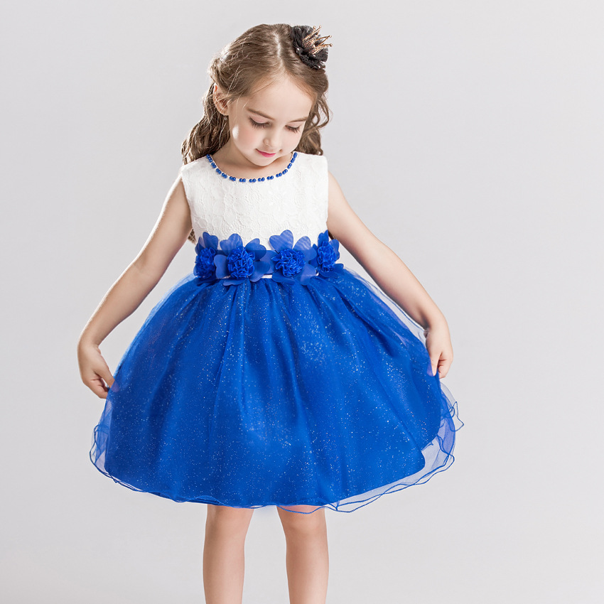 2018 Kids Girls Flower Lace Dress Baby Girl Birthday Party Dresses Children Fancy Princess Ball Gown Wedding Clothes 10 12 Years sleeveless casual dress for girl clothes princess dress baby girls clothes flower ball gown dresses kids birthday party costumes