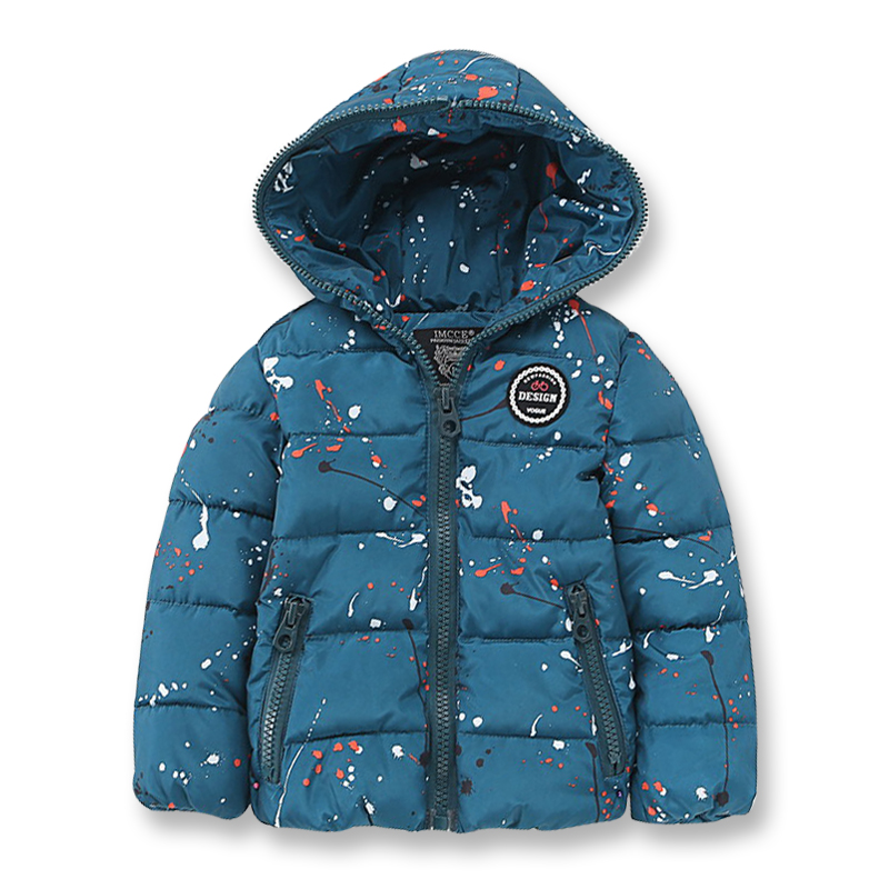 Winter Jackets for Boys Girls Thick Cotton-Padded Hooded Collar Kids Coat Good Quality Children Parka Casual Clothes 2-10 Yrs 2016 high quality casual coat for boys mandarin collar polyester juegos infantiles for children nttz 206
