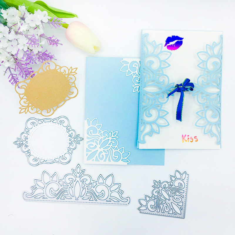 Julyarts 3Pcs Lace Flower Metal Cutting Dies 2019 Stencil for DIY Scrapbooking Stamp Embossing Cards Making Crafts Stitch