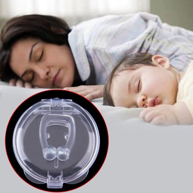หยุดกรนAnti Snore Nose ClipภาวะหยุดหายใจขณะนอนหลับGuardถาดSleeping Aidกำจัดหรือโล่งใจSnoring Health Care #85184