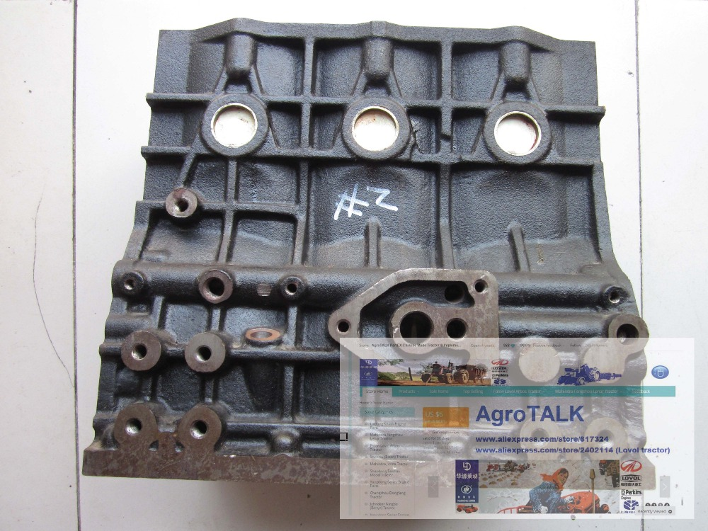 Fengshou Lenar 254 tractor, the engine block, part number: NJ385.02.020