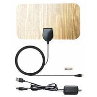 טלוויזיה אנטנה booster מגבר טלוויזיה אנטנה טלוויזיה אנטנה 200 Mile דיגיטלי HD בצבע עץ מקורה עם Booster מגבר אות HD HDTV DVB טלוויזיה בכבלים UHF VHF DTV (5)
