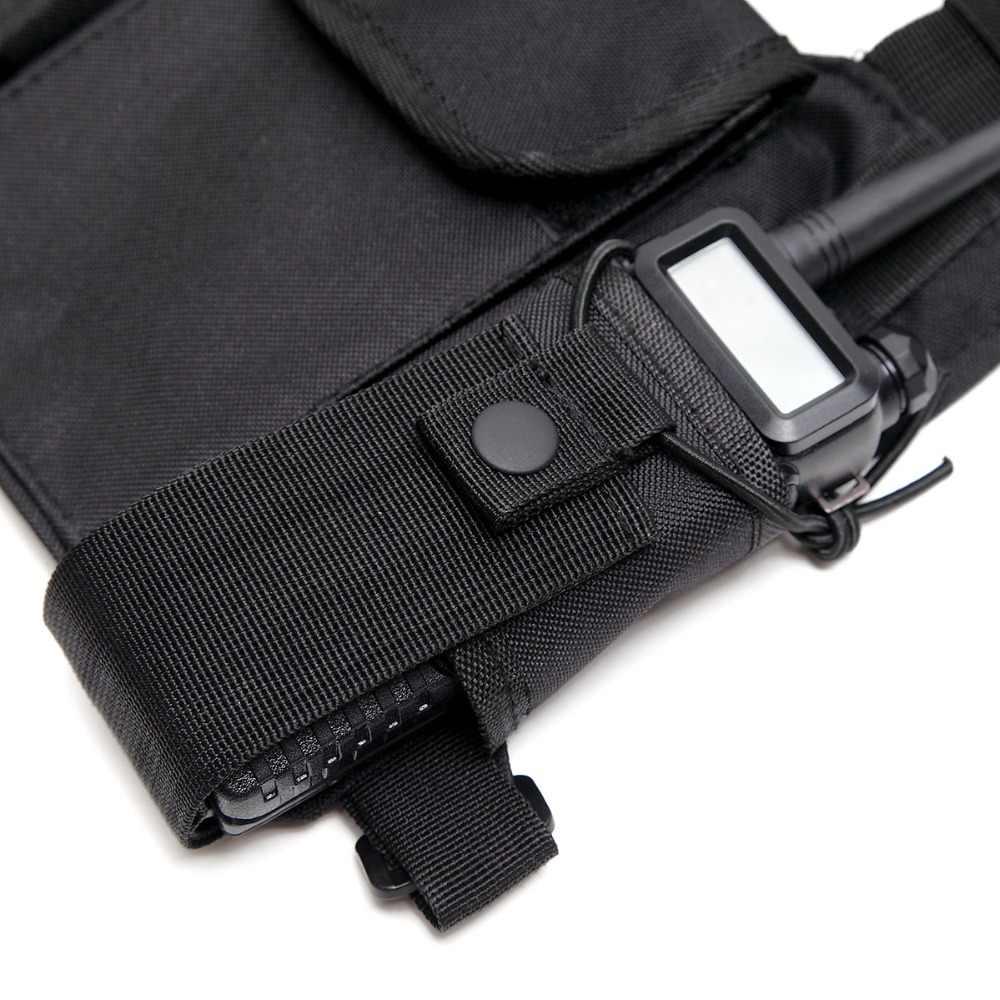ABBREE Radio Harnais poitrine Devant Pochette Étui sac de Transport pour Baofeng UV-5R UV-82 UV-9R BF-888S TYT Motorola Talkie-walkie