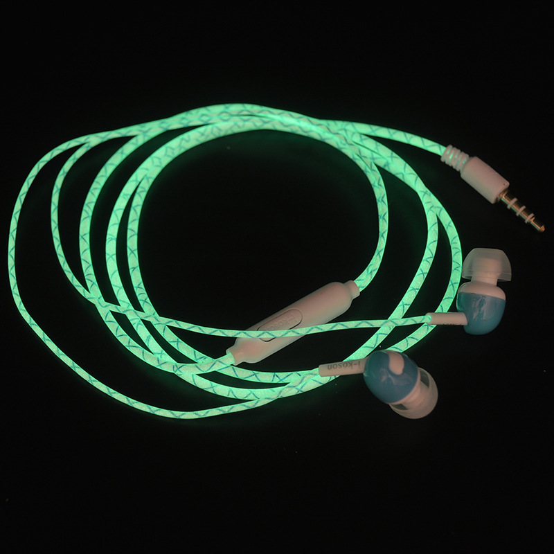 2017 Glow In The Dark Earphones Luminous Headphones 3.5MM Glowing Headset In-Ear Stereo Sport Earpiece With Mic For iPhone Nokia carro de controle remoto new 2014 electric car remote control toys mini toy charge off road vehicles automobile race wj dj003