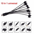 10in 1 Charger USB Cable For iPod Motorola Nokia Samsung LG Sony Ericsson 8211 usb cord cheap usb cable