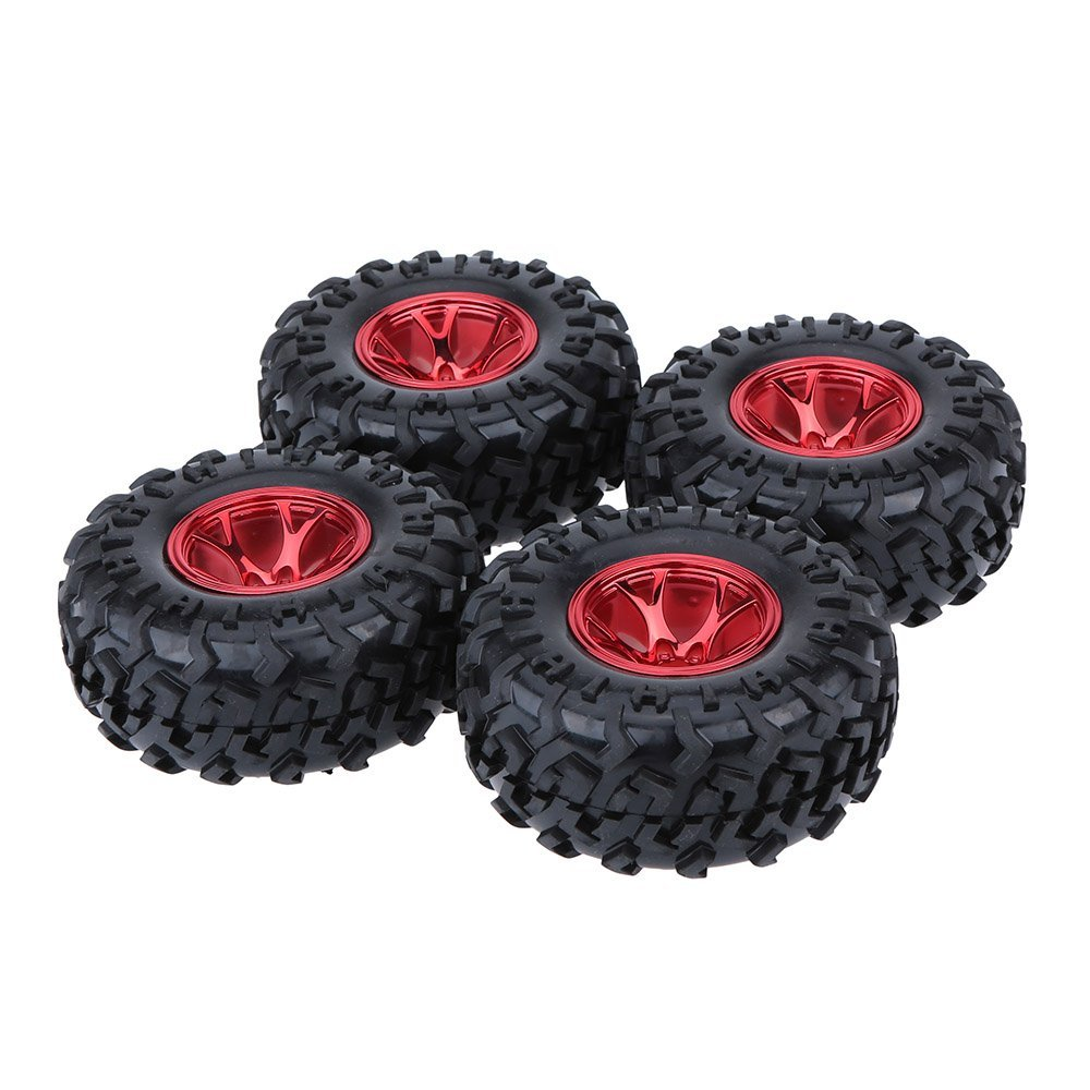 4Pcs 1/10 Monster Truck Tire Tyres for Traxxas HSP Tamiya HPI Kyosho RC Model Car