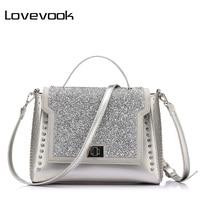 LOVEVOOK Brand Fashion Bags Handbags Women Famous Brands Diamonds Shoulder Bags Designer Handbags High Quality Messenger