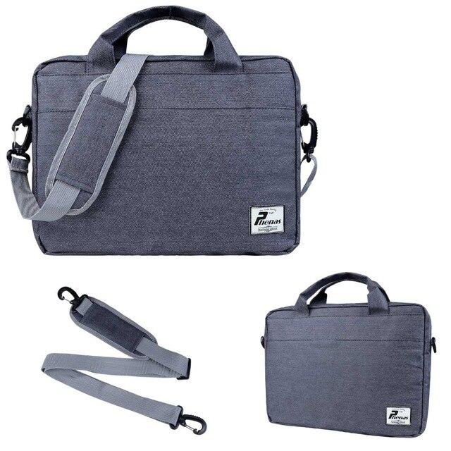 """Phenas gray jean shoulder Bag Case for macbook 11"""" 12"""" 13"""" Messenger Ultrabook laptop Notebook Computer Bag for men women"""