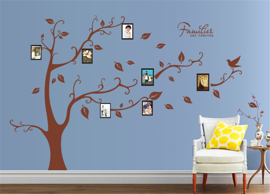 Photo Frame Family Tree Decal Wall Decals Wall Decor: Big Size Photo Frame Family Tree Wall Stickers For Bedroom