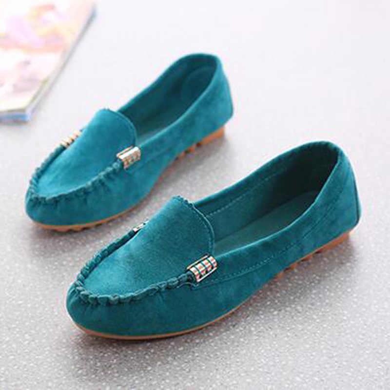 Xingdeng Đế Giày Lười Mẹ Nữ Spring Doug Giày Plus Size 35-40 Nữ Giày Nữ Đế Bằng Vải Bố Nữ Cho Nữ