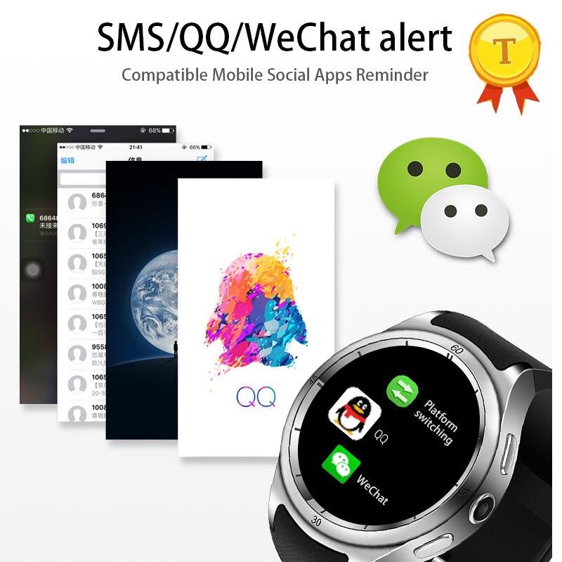 Vente chaude montre Intelligente 3G montre pour hommes WiFi GPS SmartWatch MTK 6580 calories 2.0MP Caméra Podomètre Fréquence Cardiaque phonewatch - 5