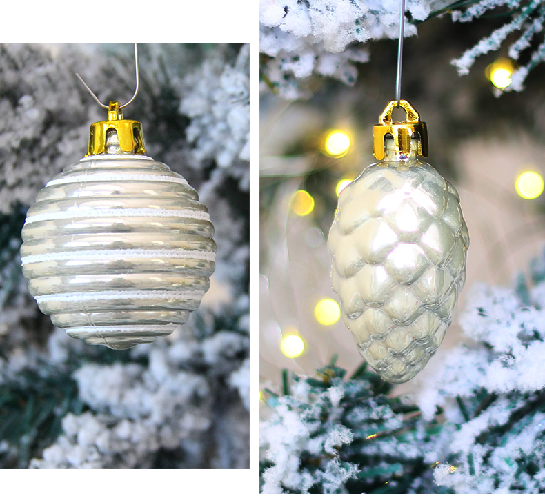 13 inhoo 80pcsset Christmas Tree Ball Ornaments Gift Polystyrene Balls Xmas Party Hanging Ball Merry Christmas Decor for Home 2019