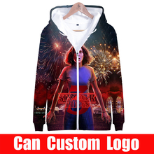 2019 hot sale Stranger things Zipper Jacket 3D Hoodies Sweatshirt Women Harajuku Stranger things Hoodies men Plus Size for men