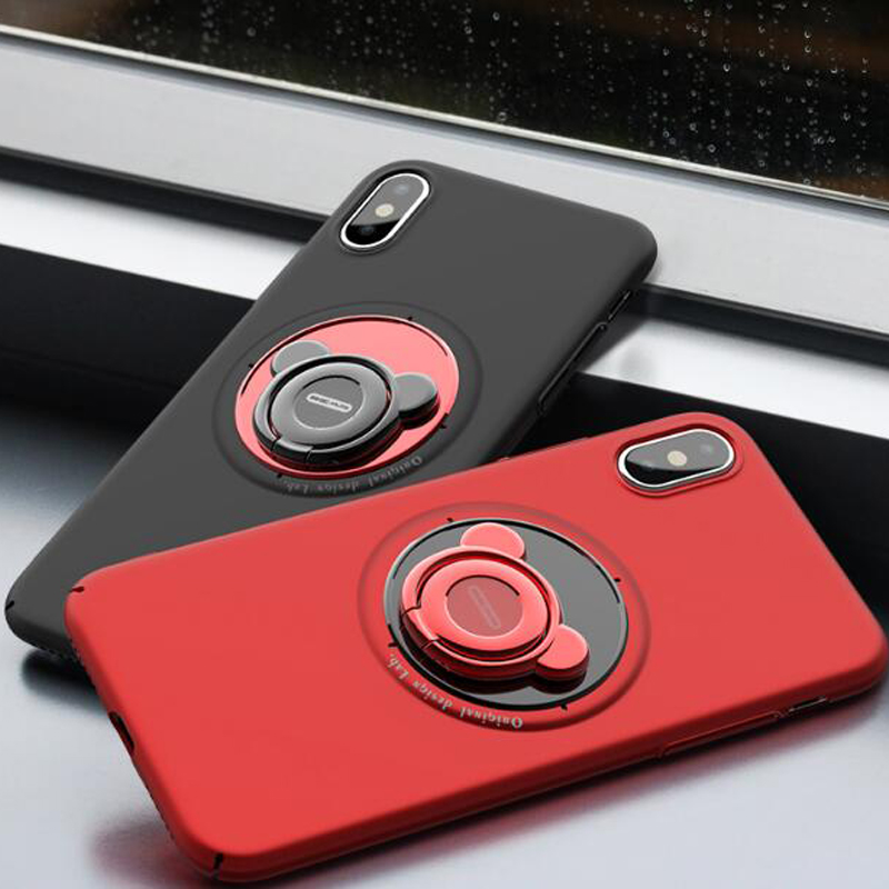 Fundas Cover For iphone7plus 8 Plus Case Cover For iphone 7 Plus Case Magnetic Case For iphone X 7 8 Plus Red Hard Case Luxury