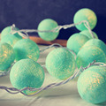 Cotton Light Balls LED String Fairy Christmas Lights Decorative Garlands Wedding Supplies Villa Fence Beach Party Decorations
