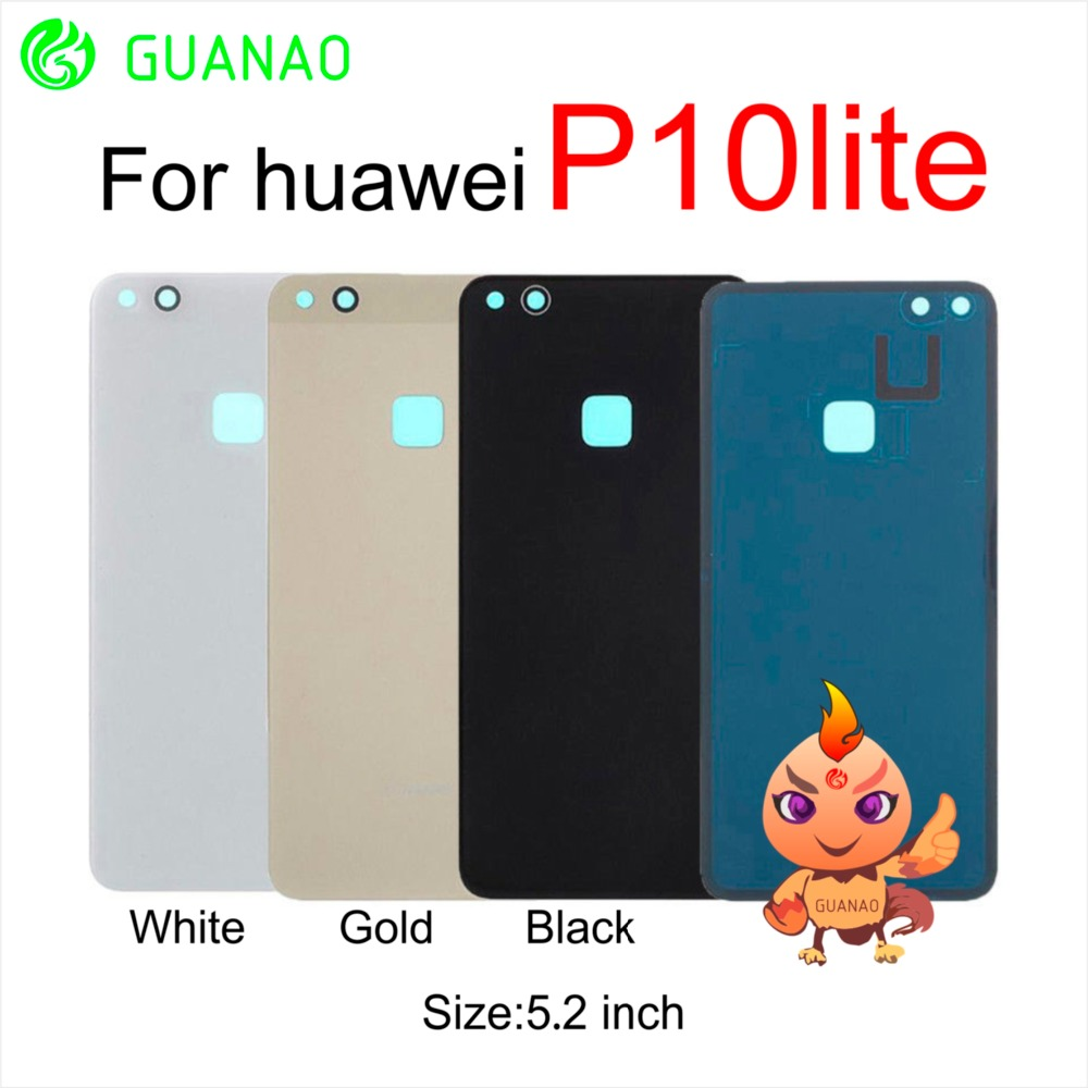 AAA For <font><b>huawei</b></font> P10 Lite Nova Lite glass Cover <font><b>Huawei</b></font> <font><b>p10lite</b></font> Back <font><b>Battery</b></font> Cover Housing Replacement Parts with Adhesive Sticker image