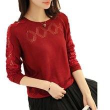 Новые стили для женщин's сезон: весна-лето костюмы свитер осень однотонная одежда вязание тонкий пуловер свитеры для