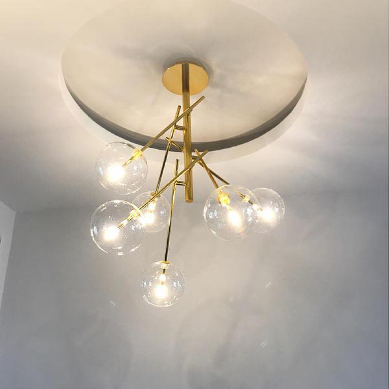 Фото Modern Fashion Dining Room Living Room Glass Bulb Pendant Nordic Creative hanging light Personality Bedroom ceiling Lamp