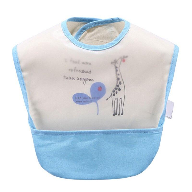2018 Infants Boys Girls EVA Waterproof Cartoon Pattern Bibs Burp Cloths Children Self Feeding CareBaby Bibs Lunch Bibs
