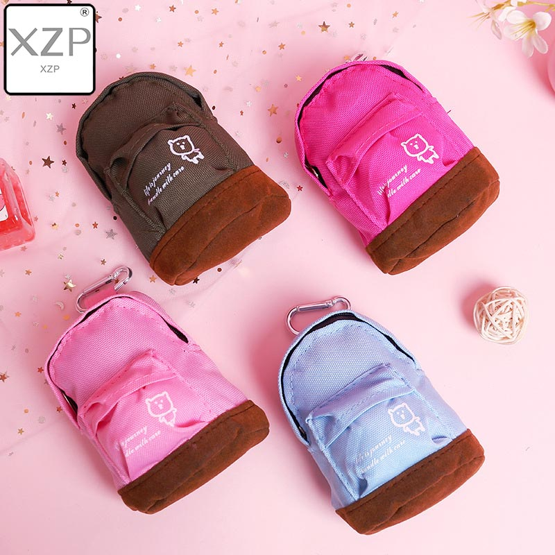 XZP Fashion Kawaii Patchwork Oxford Mini Zipper Wallet MiniBackpack Women Girls Kids Cheap Coin Pouch Change Purses Clutch Bags