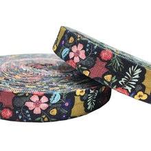 10 лет 15 мм с цветочным принтом складывающиеся эластичные DIY головы носить враг ленты для девочек браслет шитье украшения Аксессуары