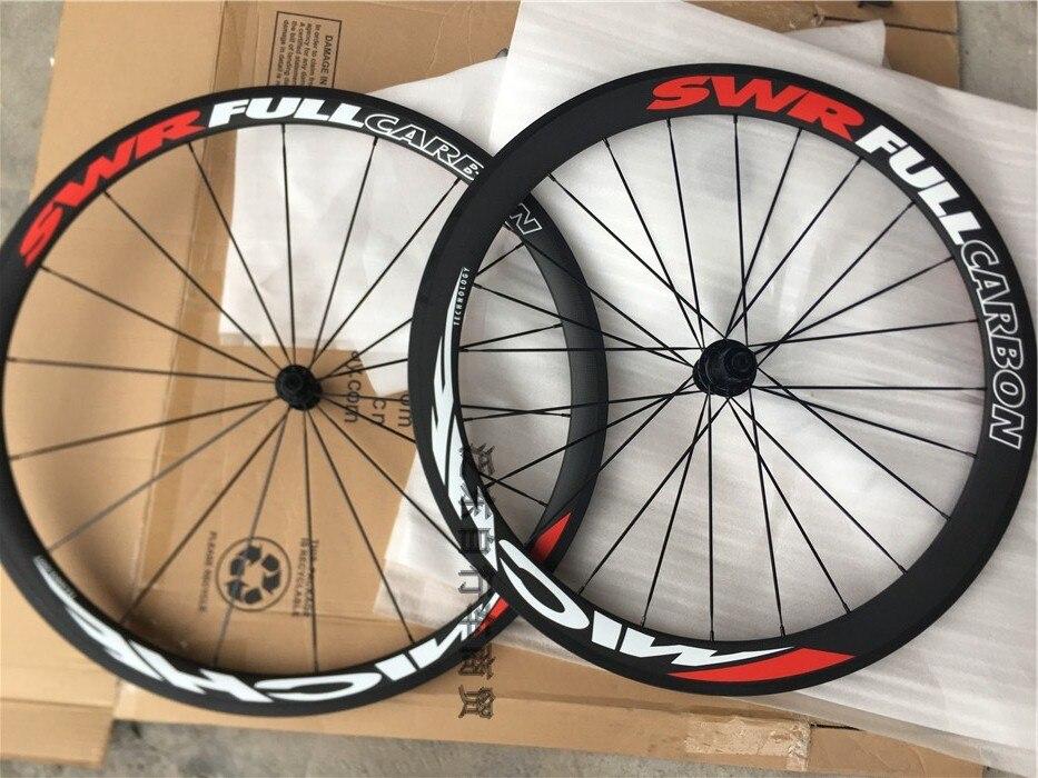 Taiwan SWR T38/50 vélo de route en carbone tubelar 18 24 roues de vélo aérodynamiques en fibre de carbone