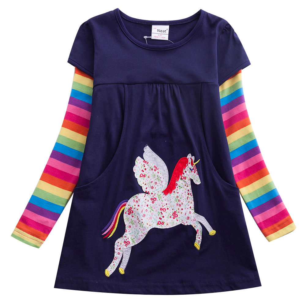 Girl Unicorn Dress Child Embroidered Children Party Casual A-line Dress Child Unicorn Autumn Winter Kids Dress LH5806Girl Unicorn Dress Child Embroidered Children Party Casual A-line Dress Child Unicorn Autumn Winter Kids Dress LH5806