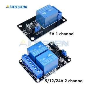 5V 12V 24V 10A 1 2 Channel With Optocoupler Relay Output 1 2 Way Relay Module For Arduino 8051 AVR PIC DSP ARM MSP430 TTL