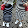 2017 Wholesale New Hot fashion girl cotton black and white striped skirt